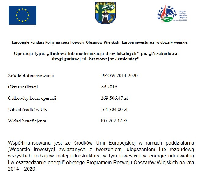 Przebudowa drogi gminnej ul. Stawowej w Jemielnicy.jpeg